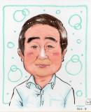 森本さん似顔絵