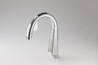 スリムなデザインの水栓