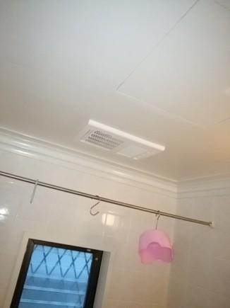 交換後の浴室乾燥機