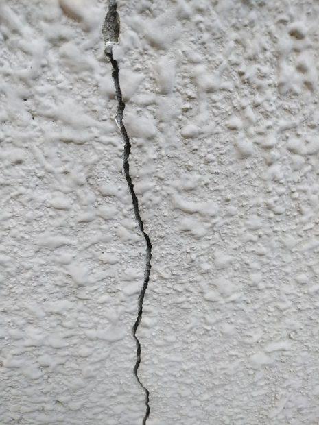 危険な外壁亀裂