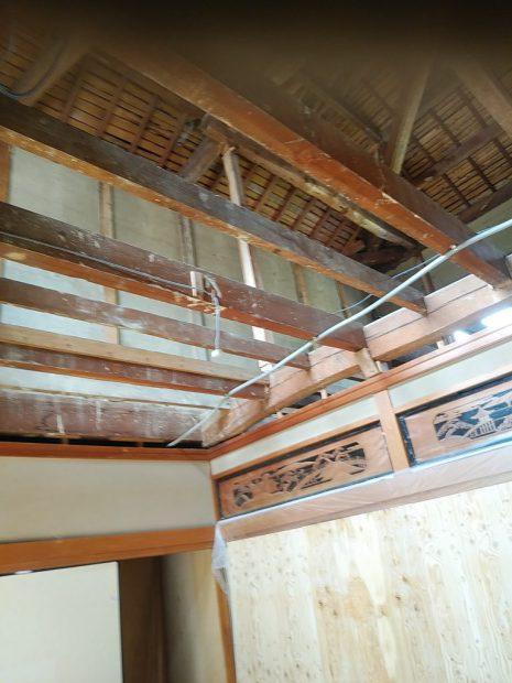1階天井解体