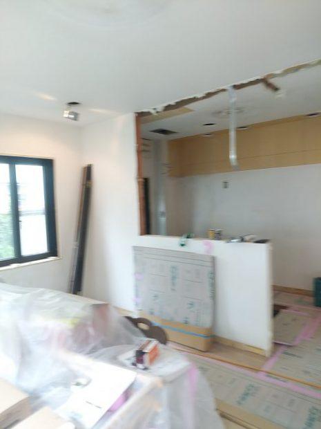 キッチン垂れ壁撤去